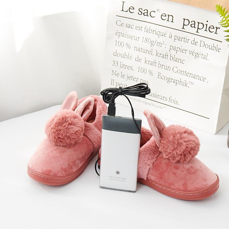 Heating Slipper Shoes Unisex Furry