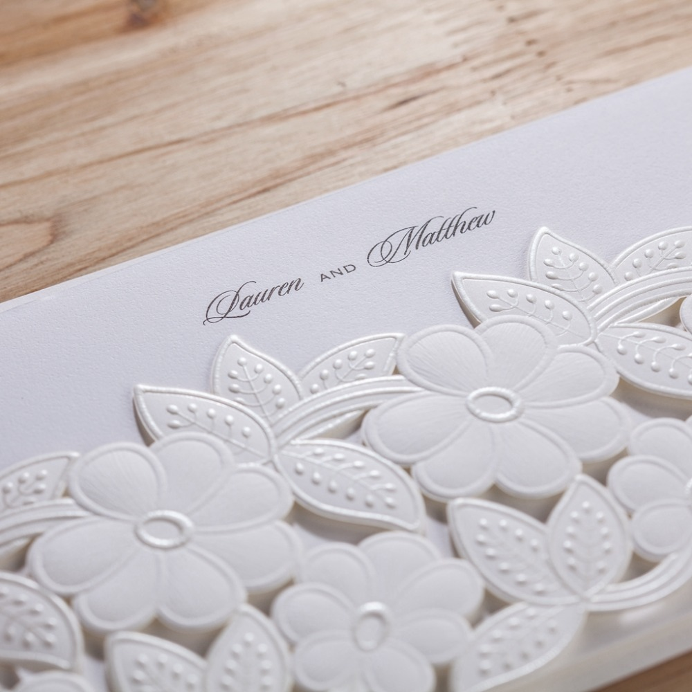 WISHMADE cw5170 white wedding invitation card/ greeting card with ...
