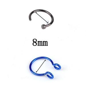 1 шт. u-образное поддельное кольцо для носа кольца для перегородки Кольца из нержавеющей стали имитация пирсинга для носа пирсинг Oreja пирсинг ювелирные изделия
