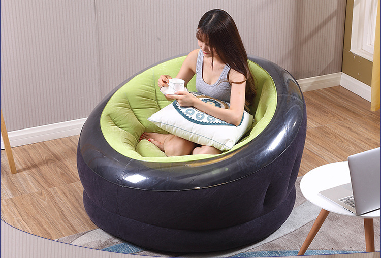 Outdoor inflatable sofa beach chair lazy sofa round