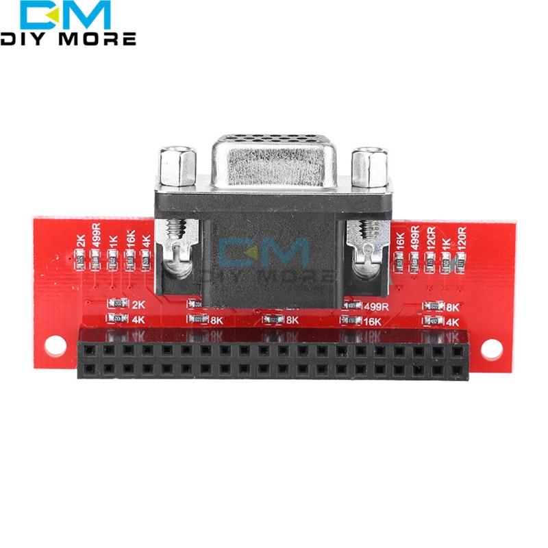 EP-0073 VGA666 Gert-VGA Adapter Board Module GPIO To VGA for Raspberry Pi 3B / 2B / B+