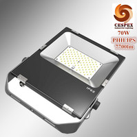 110lm W Ultra Thin Aluminum AC110V 220V 240V 50 60Hz IP65 70W LED Floodlight Gadern Landscape