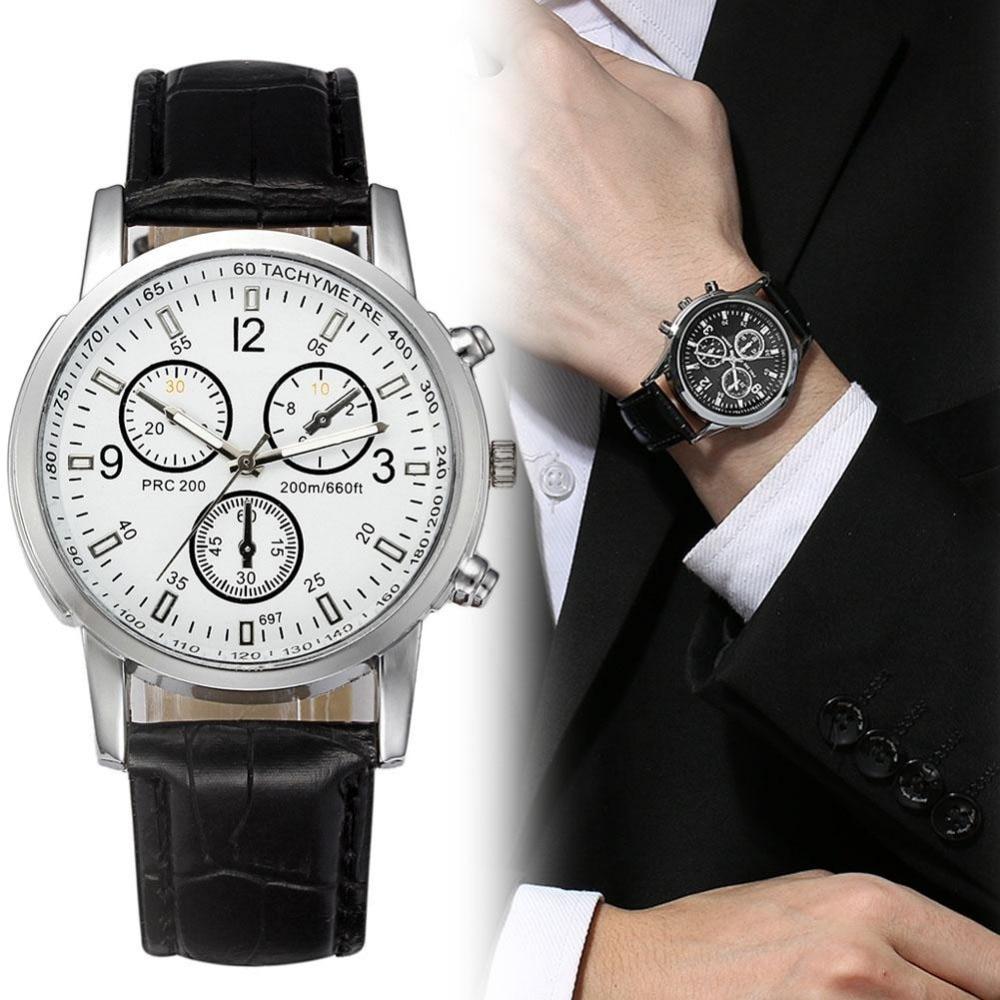где купить Casual Quartz Watch Luxury Men PU Leather Business Wristwatch Simple Men Watches Water Resistance Relogio Masculino Clock по лучшей цене
