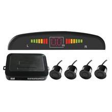 Car Parking Sensor Kit Auto LED Display 4 Sensors for All Cars 22mm Reverse Assistance Backup Radar Monitor System Buzzing Sound