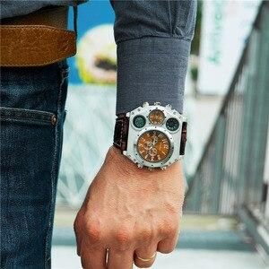 Image 3 - Oulm 1349 New Sport Watches Men Super Big Large Dial Male Quartz Clock Decorative Compass Luxury Mens Wrist Watch