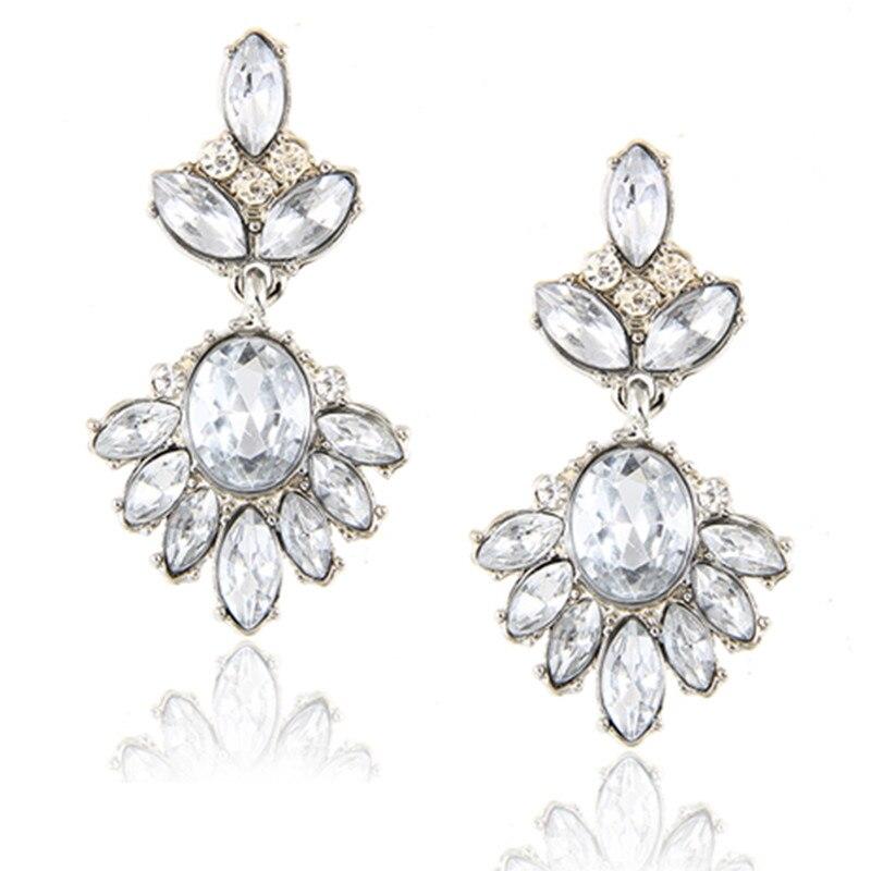 Fashion Femmes Larme Long Dangle Strass Boucle d/'oreille fête de mariage bijoux
