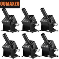 6PCS/LOT LED CO2 Easy Adjustable Angle Cannon Machine DMX Control 12pcs RGB 3in1 Co2 jet Cryo 12x3W Full Color LED 5m Gas Hose