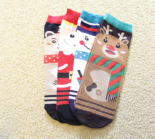 Hirigin Gala Christmas Cotton Xmas Casual Socks Hosiery Gift reindeer snowman snowflake 4 Prints One Size
