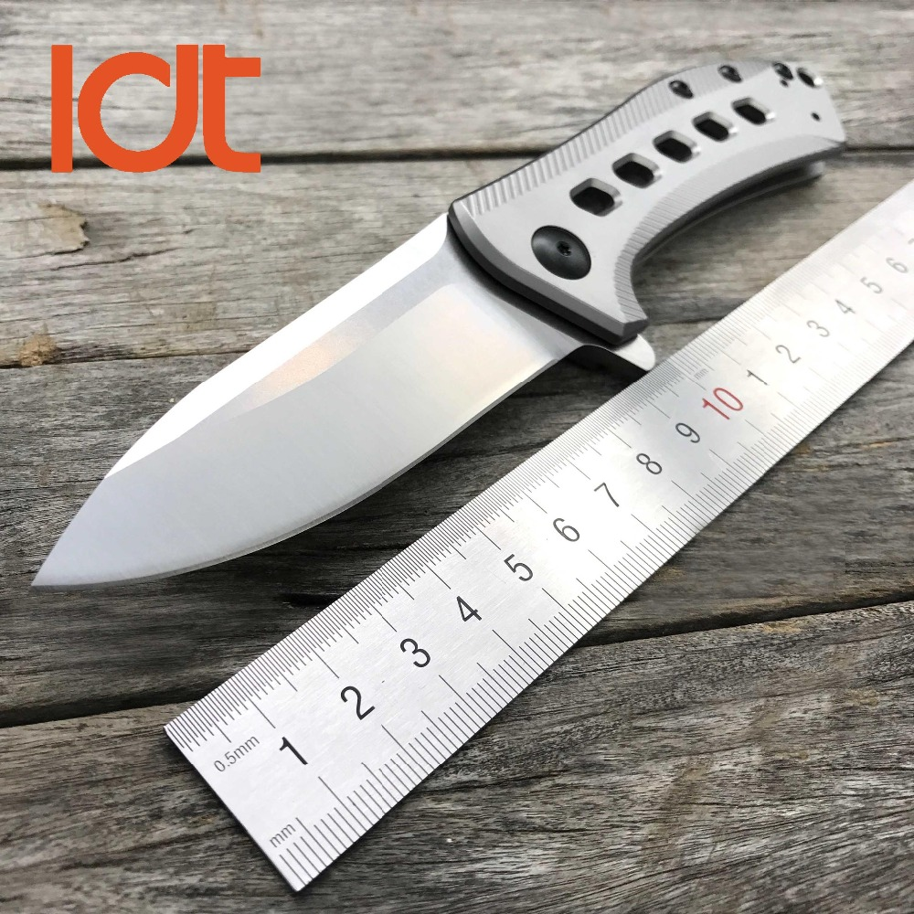 LDT 0801 Folding Knife M390 Blade Titanium TC4 Handle Tactical Knives Camping Hunting Ball Bearing Survival EDC Tools