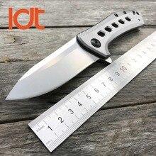 Ldt 0801 faca de dobramento m390 lâmina titânio tc4 lidar com facas táticas caça acampamento rolamento esferas faca sobrevivência ferramentas edc