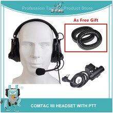 Z TAC Airsoftsports élément casque Comtac III réduction de bruit casque avec PTT Kenwod casque tactique pour la prise de vue Z051 + Z113