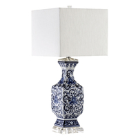 Chinese style classical blue and white porcelain table lamps blue desk lamp creative white simple table light ZA81210