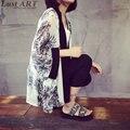 Tribal imprimir blusas primavera moda mujer japonesa kimono ladies short cardigan kimono japonés nuevo de las señoras de kimonos AA212