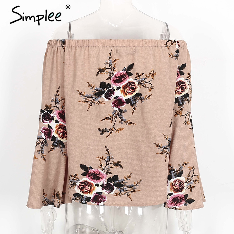 HTB1w13TPXXXXXcgXFXXq6xXFXXXp - Simple Off shoulder chiffon blouse shirt women Sexy summer