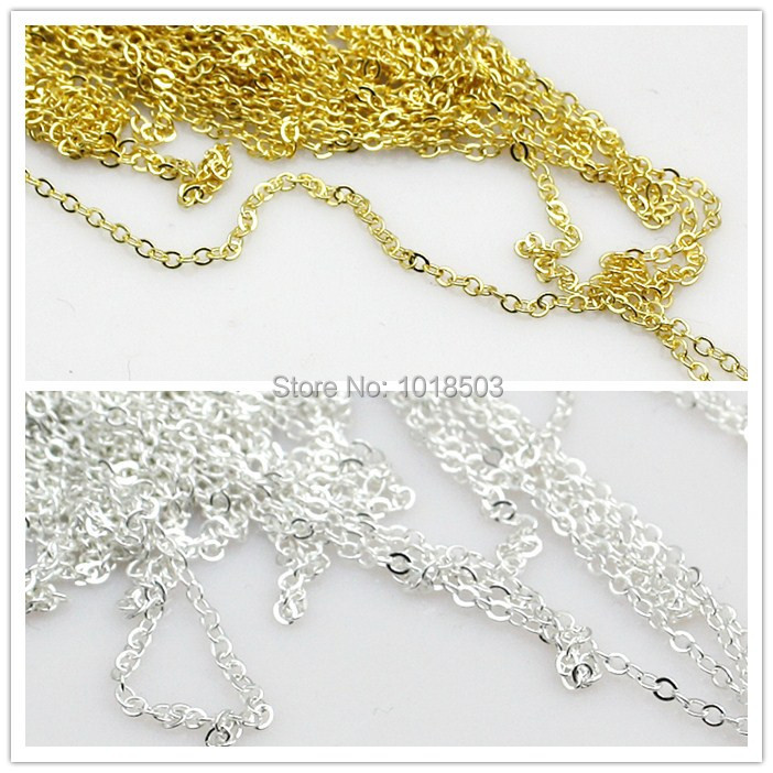 1.2mm Quality Silver or Gold Fine Chains Jewellery Making 10m