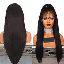 Fantezi Güzellik 28 Inç Dantel Ön Sentetik Peruk Uzun Düz Isıya Dayanıklı Saç Ön Koparıp Peruk Doğal saç Çizgisi ile