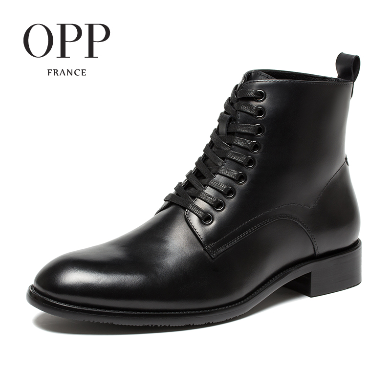 OPP New Classical Men boots Genuine Leather Men Shoes Winter Boots men