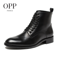 OPP New Classical Men boots 2017 Genuine Leather Men Shoes Winter Boots men Shoes Ankle Boots for men High Top Boots
