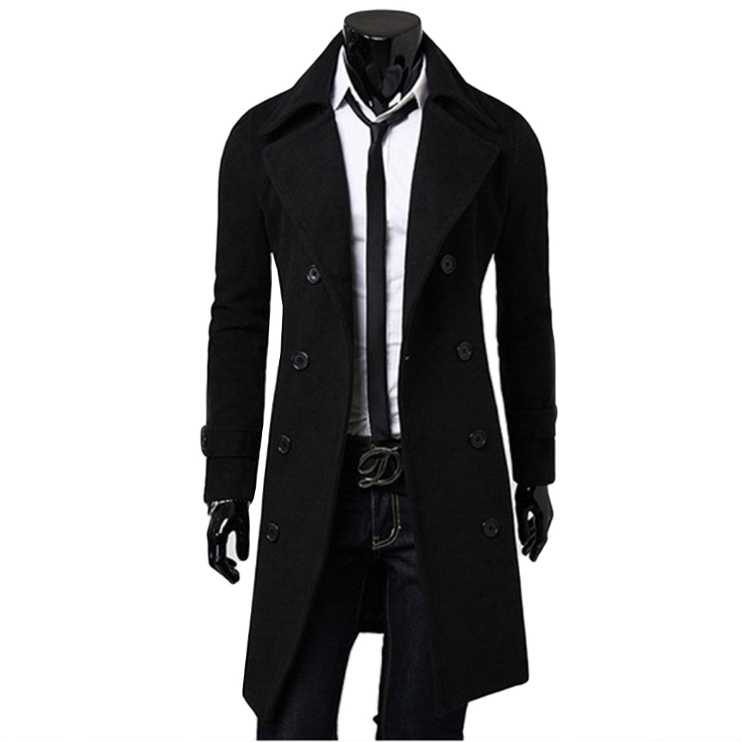 Aliexpress.com : Buy Men'S Trench Coat Men Classic Double Breasted ...