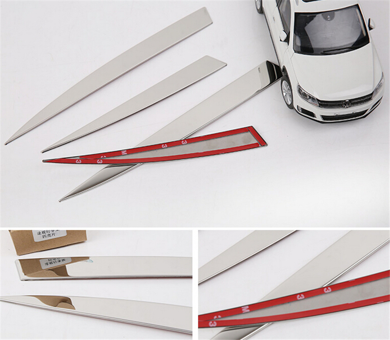 For Volkswagen Vw Tiguan 2010 2011 2012 2013 2014 2015 Car Styling Roof Rack Trim Cover Auto Accessories Stainless Steel 4pcs car rear trunk security shield cargo cover for volkswagen vw golf 6 mk6 2008 09 2010 2011 2012 2013 high qualit auto accessories