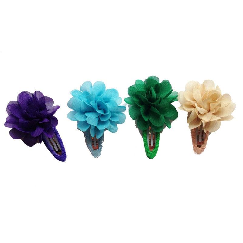 Купить с кэшбэком Fashion 2 pcs Girl Children Fashion Flower Pumpkin Hair Clip Cute Toddler Gift Colorful Hairpins Accessories