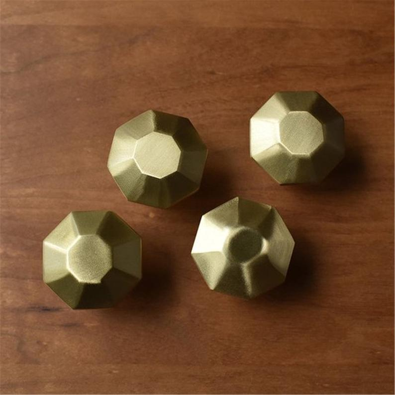 1pc Brass Knob Dresser Knobs Pulls Modern Drawer Pull Handles Unique Kitchen Cabinet Pulls Door Knob Handle Furniture Hardware in Cabinet Pulls from Home Improvement