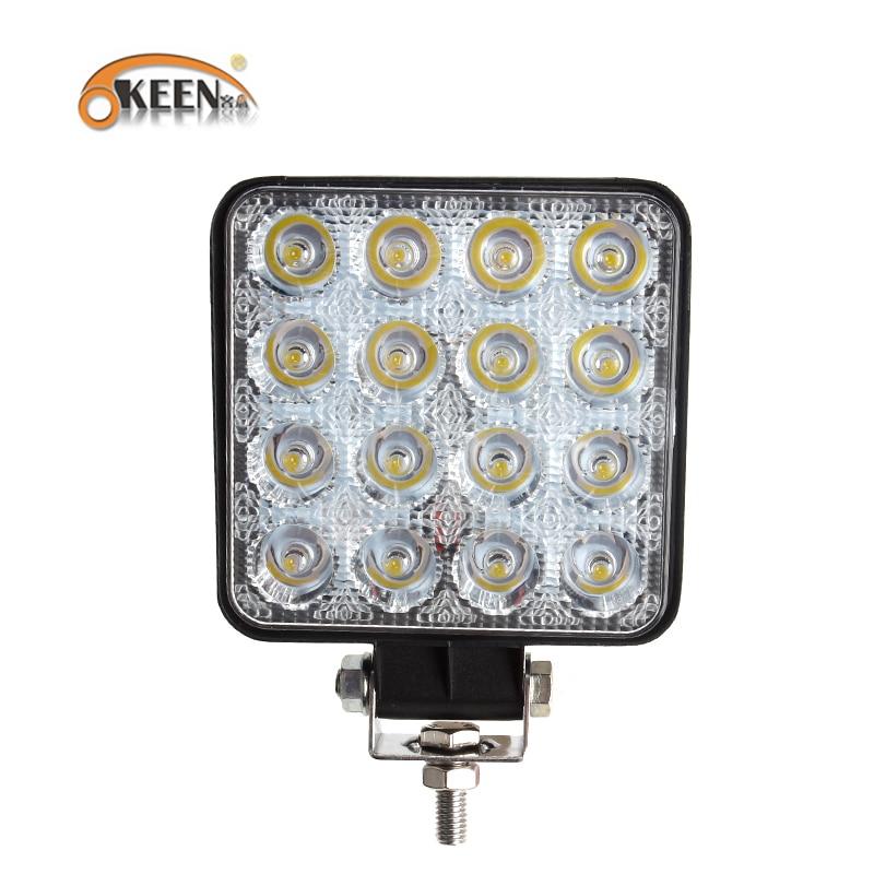 OKEEN 2X Work Light 4 2 Inch 48W 12V 24V Spot Flood LED for Offroad fog