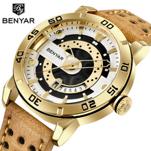 BENYAR gold watch  military wristwatch mens watches top brand luxury