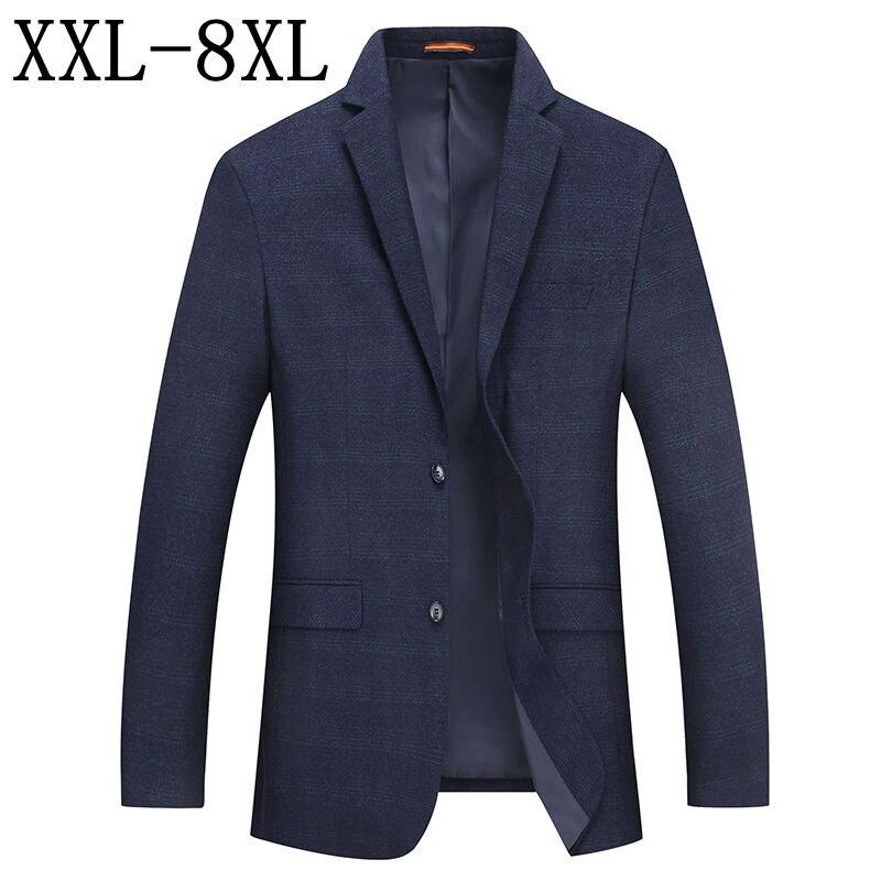 ขนาด 8XL 7XL 6XL Vintage Blazer Men 2019 ฤดูใบไม้ร่วงฤดูใบไม้ร่วงใหม่สไตล์อังกฤษชาย Blazer สูทแจ็คเก็ตธุรกิจ Casual Blazer Masculino-ใน เสื้อเบลเซอร์ จาก เสื้อผ้าผู้ชาย บน   1