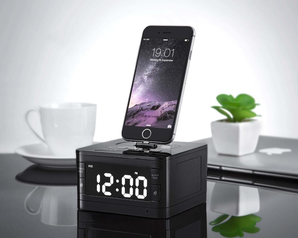 8 Pin Charger Dock Station T7 Fm Radio Alarm Clock s
