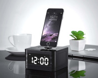 T7 8 Pin Charger Dock Station Fm Radio Alarm Clock Portable Audio Music Wireless Bluetooth Speaker