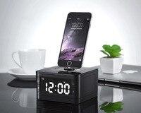 T7 8 Pin Charger Dock Station Fm Radio Alarm Clock Portable Audio Music Wireless Bluetooth Speaker