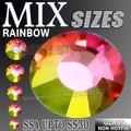 Todos os Tamanhos Mix Colorful RainBow Nail Art Strass SS3 SS4 SS5 SS6 SS8 SS10 SS12 SS16 SS20 S30 strass glitter Não HotFix cristal