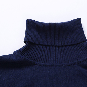 Image 4 - Nieuwe Herfst Winter Mode Merk Kleding Mannen Truien Warm Slim Fit Coltrui Mannen Trui 100% Katoen Gebreide Trui Mannen