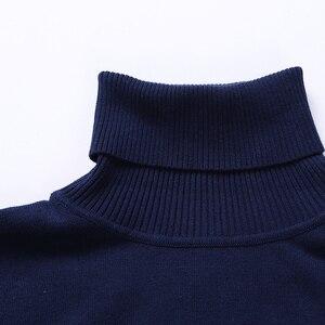 Image 4 - חדש סתיו חורף אופנה מותג בגדי גברים של סוודרים חם Slim Fit גולף גברים בסוודרים 100% כותנה סרוג סוודר גברים