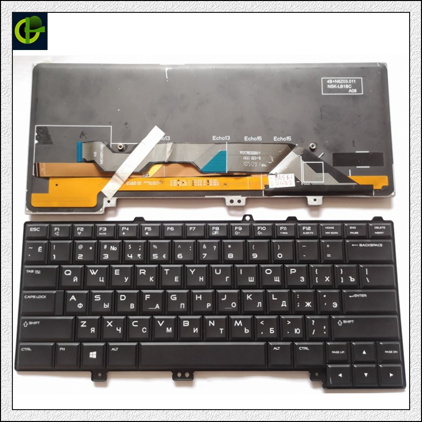 Russian Backlit Keyboard for DELL Alienware 13 R1 R2 15 R1