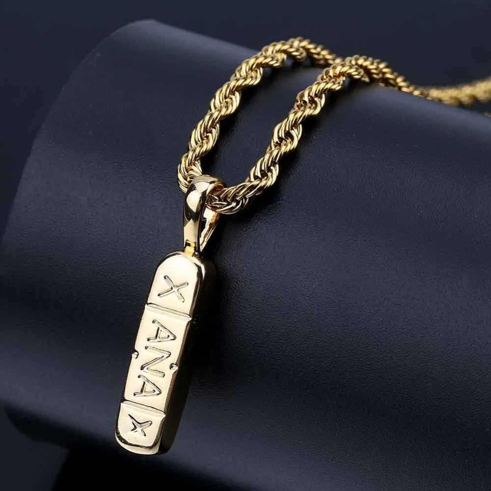 Litery łańcuszek z wisiorkiem naszyjnik złoty i srebrny miedź Metal prosty styl Choker Hip Hop klejnoty Trendy fascynujące prezenty