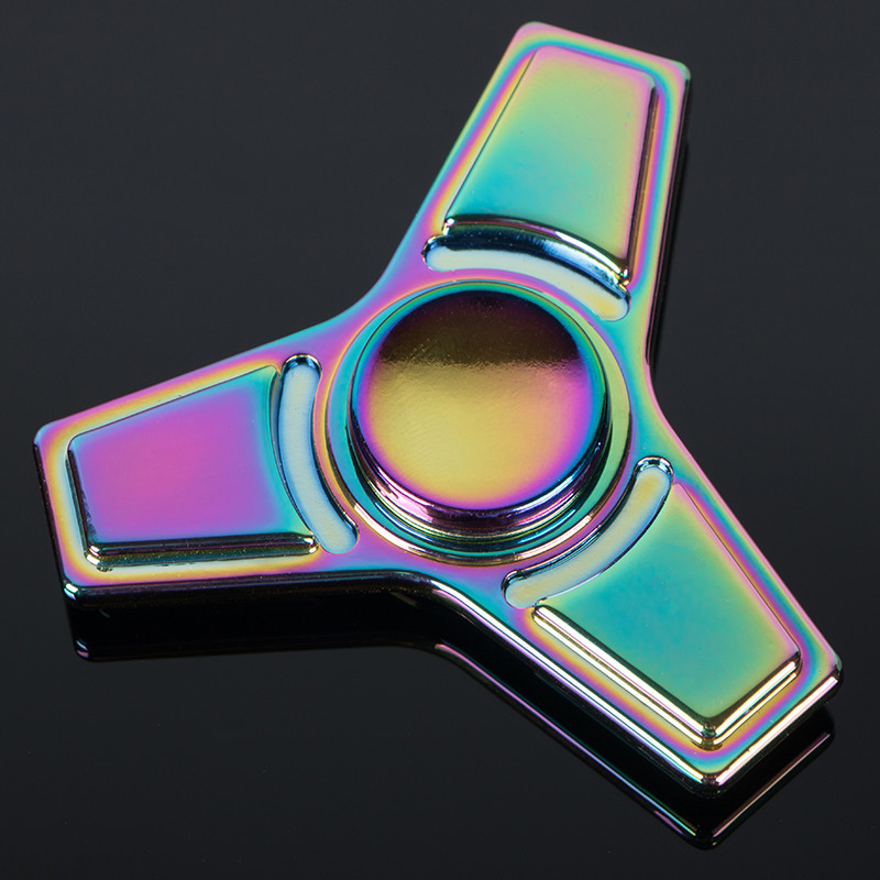 5colorful EDC Hand Spinner Toy Fidget Spinner Zinc alloy Metal Finger gyro For Autism ADHD Stress Relieve Toy Long Time Speed
