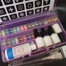 Temporäre Diamant Glitter Tattoo Kit 24 Farben Pulver 4 Kleber Schablone Hohl Vorlage Für Gefälschte Tattoo Schönheit Körper Malerei Kunst