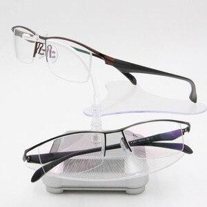 Image 3 - BCLEAR חדש גברים עסקי משקפיים מסגרת חצי רים מותג טיטניום סגסוגת קוצר ראייה משקפיים האולטרה אופנה כיכר מסגרות