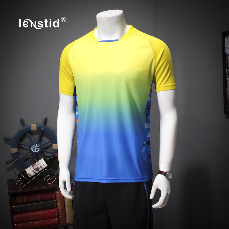LENSTID Quick Dry Sportsuits Men Sets Casual Sportswear Mens Tracksuit t-Shirts Shorts Pants Plus Size 5XL 6XL 7XL 9800#
