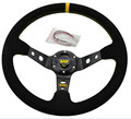 "Free Shipping Top racing 14"" OMP Steering Wheel OMP Suede Leather Steering Wheel Deep Dish Racing Sport Steering Wheel"