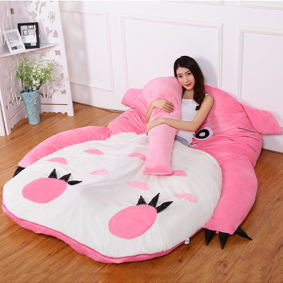 pink Princess Totoro lazy sofa bed Single cartoon tatami mats Lovely creative small bedroom sofa bed chairpink Princess Totoro lazy sofa bed Single cartoon tatami mats Lovely creative small bedroom sofa bed chair