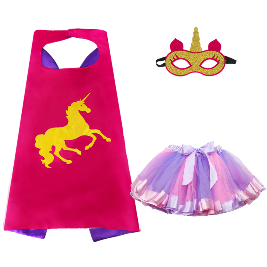 2-8 Y.O SPECIAL Rose Unicorn Costume Mask Tulle Skirt Girls Dress Up Costumes Party Anime Toys Gift Costume For Dance Show