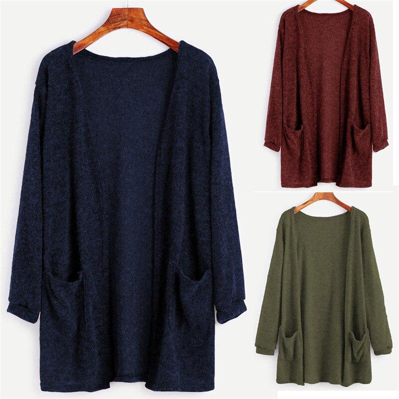 New Style Women Female Cardigan font b Coat b font Autumn Winter Long Sleeve Tops Blouse