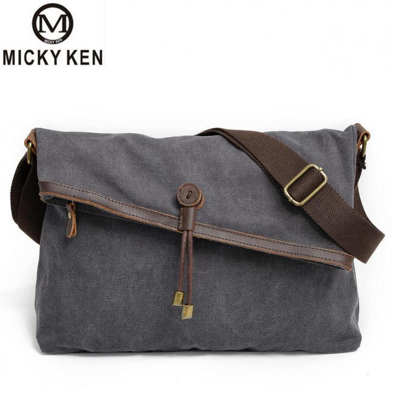 Micky Ken Brands Fashion New Canvas Shoulder Bags Leisure Literature Fan Men And Women Crossbody Bags Leather Cotton Bags 8011#Micky Ken Brands Fashion New Canvas Shoulder Bags Leisure Literature Fan Men And Women Crossbody Bags Leather Cotton Bags 8011#