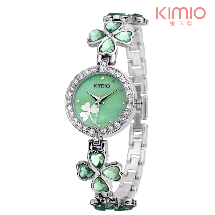 New Kimio luxury Womens Fashion quartz watch bracelet watch Four-leaf clover bracelet Ladies wristwatches New Kimio luxury Womens Fashion quartz watch bracelet watch Four-leaf clover bracelet Ladies wristwatches