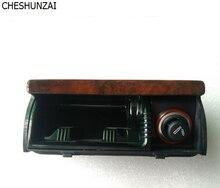CHEAHUNZAI para VW Passat B5 Coche Cenicero De Madera de Madera de Cerezo Interior Frontal Botes de Basura de Caoba Cenicero Cigarrillo 3B0 857 961
