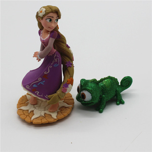 Image 4 - 2piece/lot  New Style Tangled Figure toys Chameleon Pascal Green Chameleon and Rapunzel princess figure toys