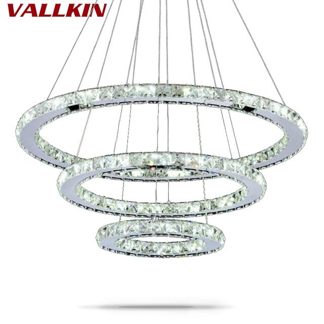 LED Ring Pendelleuchte Kristall Moderne Pendelleuchte Leuchtet für ...